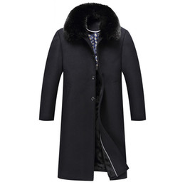 $enCountryForm.capitalKeyWord Australia - Winter Wool Coat Long Trench Coats Mens Warm Jackets Fur Collar Outerwear Overcoat Windbreaker Thickening Tops Plus Size Clothes 2019