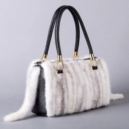 new fall fashion handbags 2019 - New Fall Winter Hot Sale Real Mink Hair+genuine Leather Women Shoulder Bag Tote Warm Handbags For Girls Bolsa Feminina L