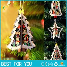 $enCountryForm.capitalKeyWord Australia - New Hot 1PC Christmas Tree Ornament Hanging Xmas Tree 3D Wooden Christmas Pendants For Home Party Decorations