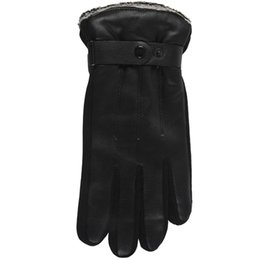male hand gloves Australia - Men Fashion Warm Soft Cashmere Leather Male Winter Waterproof Gloves Driving #1 kennels pens