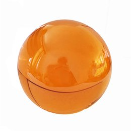 magic crystal ball stand Canada - 80mm Amber Wooden Stand Quartz Crystal Ball Magic Sphere Fengshui Glass Lucky Ball for Birthday Gifts