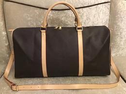 venda por atacado Moda Duffel Bags Homens Femininos Sacos de Viagem Grande Capacidade Holdall Carry On Baggage Overnight Weekender Bag com Bloqueio de Número Serial