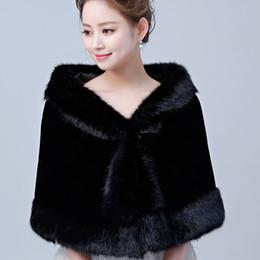$enCountryForm.capitalKeyWord UK - Hot Sale Black Women's Faux Fur Wrap Cape Stole Shawl Bolero Jacket Coat Shrug For Wedding Dress Winter Free Shipping