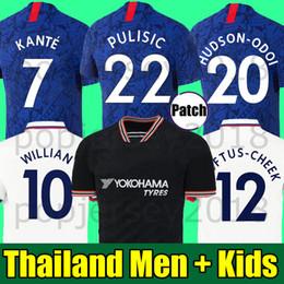 Chinese  Thailand PULISIC KANTE LAMPARD ODOI WILLAN soccer jersey 2019 2020 GIROUD Camiseta de football kits shirt 19 20 MEN WOMEN KIDS SETS UNIFORM manufacturers