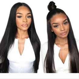 ponytail wigs straight NZ - Diva Human Hair Wigs 360 Lace Frontal Wig Silky Straight 150% Density 360 Wig Pre Plucked ponytail updo brazilian hair wigs