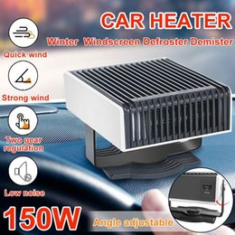 12v car defroster Canada - 150W 12V Winter Adjustable Speed Car Heater Air Cooler Fan Windscreen Window Demister Defroster for Auto Truck Motorhome SUV