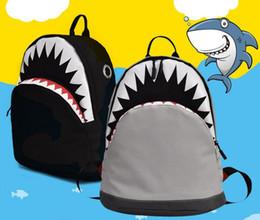 $enCountryForm.capitalKeyWord Australia - fashion Middle School Student Shark Mouth Backpack kids School book Bag Casual Canvas cartoon 3d cute boys girls Shoulder Bag