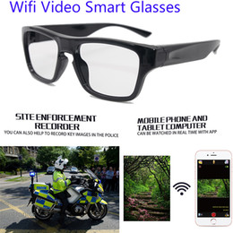 remote control vehicle video camera Australia - 2019 New popular mini wearable smart touch 1080P remote control wifi safety video camera hd glasses with camera long time recording