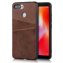 Wholesale Real Leather Card Slots Phone Case For Huawei P30 Pro P20 Lite Luxury Slim Wallet Back Case For XiaoMi Redmi Mi T Note7