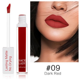 Wholesale Lipstick Brands Australia - DHL Free Matte Lipstick 23 Colors Long Lasting Liquid Lip Stick Nude Lip Tint Make Up Waterproof Lip Gloss Brand No Cracking Dry Cosmetic