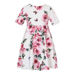 $enCountryForm.capitalKeyWord NZ - Girls Summer Dress Princess Party Wedding Dresses 2019 Brand Floral Kids Dresses for Girls Birthday Costume Children Clothes