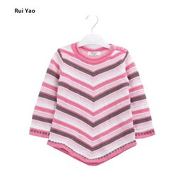 rainbow clothes for kids 2020 - 1782217 2018 Autumn Baby Sweater For Girls Clothes For Girls Sweater Striped Rainbow Full Sleeve Fashion kids clothes f