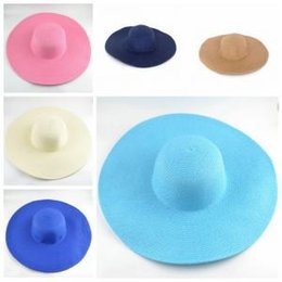 7485e175650 Classic Outdoor Wide Brim Hats Woman Summer Travel Beatch Straw Sun Hats  Lady Camping Colorful Foldable Hats TTA319