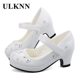 $enCountryForm.capitalKeyWord NZ - Ulknn Spring Autumn Girls Princess Shoes Leather Flowers Children High Heel Shoes For Girls Shoe Party Wedding Dress Kids Shoes Y19062001