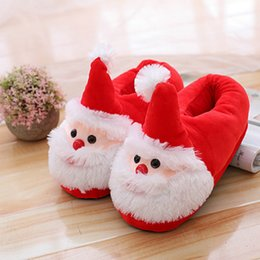 $enCountryForm.capitalKeyWord NZ - SHUJIN 2018 Santa Claus Family Slippers Winter Warm Shoes Flats New Year Christmas Children Kids Girls Mother Shoes Home Wear