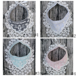 Lace bibs online shopping - Lace Baby Bibs INS Burps Cloths lace waterproof Newborn Tassel Saliva Towels Infant Cotton Bibs Scarf Kids solid Burp GGA2399