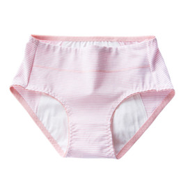a89a00ef0809 Pink Elastic Comfortable Cotton Underwear Briefs Trendy Clothes Menstrual  Moon Period Women Soft Breathable Leak Proof Panties