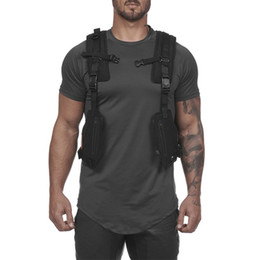 OutdOOr tactical vest online shopping - Summer new brand multi function tactical vest wear protective vest outdoor sports training cycling wear jogger casual men s