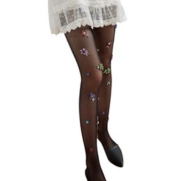 ecd572f72c6 New Women Girls Sexy Fishnet Tights Mesh Pantyhose Shiny Flower Stockings  Lady Nylons Elastic FishNet Tights Hosiery