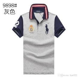 AmericAn polo shirts online shopping - fashion mens ralph polo shirt lauren brand men polos Business Leisure t shirts summer Breathable polos shirt fashion classic polo shirt