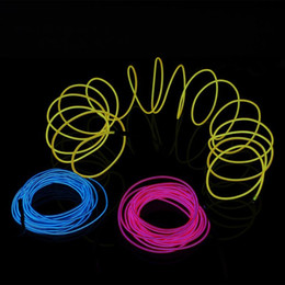 glow party decorations Australia - El Wire LED Strip Waterproof Lights Glowing Line Rope Tube Neon Lamps Cable+Battery Controller for Party Car Decoration