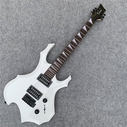In Stock Speed Delivery Shaped White Electric Guitar Beginner Practice Birthday Gift To Friends Free Shipping
