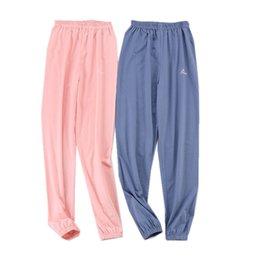 Spring Summer Women Cotton Bottoms Sleep Trousers Loose Casual Pajamas  Nightwear Sleep Lounge Pants Sleepwear Homewear 5b3417340