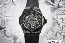 Coating Cnc Australia - Top Luxury Watch 27 diamond Swiss 1213 Automatic 28800 vph CNC Black 316L Steel Case coating Sapphire Skeleton Dial Remove Leather strap
