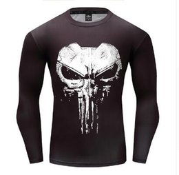 0128c16a8ae5 Compression Long Sleeve 3D Print T-shirt 2018 New Design Cosplay Fitness  Body Building Male Crossfit Tops Punk Skull Skeleton