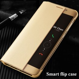 View Window Case Australia - For Huawei P10 Case P20 Pro PU Leather Flip Cover Smart Window View Phone Cases For Huawei P10 Plus