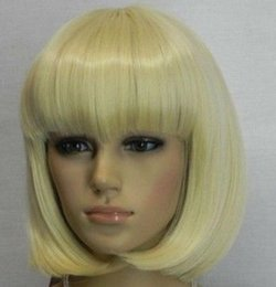 $enCountryForm.capitalKeyWord Australia - LL HOT Free Shipping >> New girl's Charming blonde short hair bob women's cosplay wig