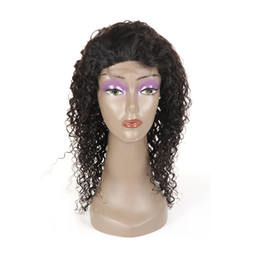$enCountryForm.capitalKeyWord Australia - Human Hair Wigs Brazilian Jerry Curly 4x4 Lace Front Wig with Baby Hair Virgin Hair Pre Plucked Bleached Knots Free Part Natural Color