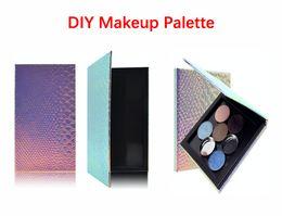 "$enCountryForm.capitalKeyWord Australia - Free Ship DIY Makeup Palette Box 7*3.9*0.39"" Fish-Scale Pattern Refill Palette Empty Magnetic Face Eyeshadow Blush Powder Foundation Case"