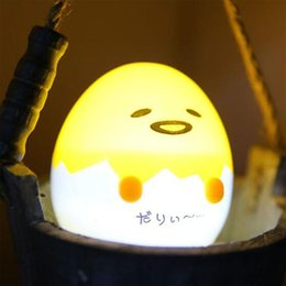 egg gifts Australia - Kawaii Night Light, Cartoon Lazy Egg Mini Light Night Light Home Decoration Gift Yellow 1 pc