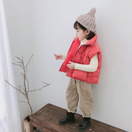 $enCountryForm.capitalKeyWord Australia - 2018 New Arrival Winter Korean Version Cotton pure color Wool Bread thickened warm all-match Vest for cute fashion girls boys