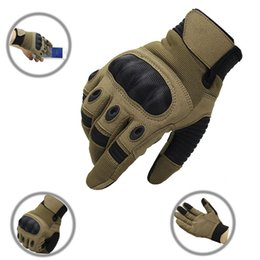 paintball army Australia - Army Gear Touch Screen Tactical Gloves Men Full Finger SWAT Combat Military Carbon Shell Anti-skid Airsoft Paintball Gloves