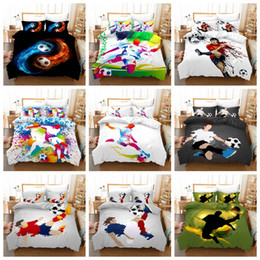 $enCountryForm.capitalKeyWord Australia - Bedding set cartoon football play design Twin King Queen size duvet cover sheets pillow case