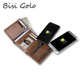 Android Wallet Australia - BISI GORO 2019 Men Women Smart Wallet With USB for Charging Wallet With Iphone And Android Capacity 4000 mAh For Travel Retail #529228