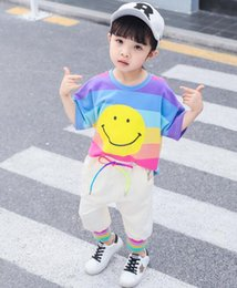 $enCountryForm.capitalKeyWord Australia - Summer 2019 Girls'New Kids' Korean Suit Two Kinds of T-shirts and Short Skirts for Children