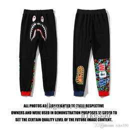 Wholesale 38 hip resale online – designer 2020 New Ape Men Joggers Brand Male Trousers fashion Casual Pants Sweatpants Men Gym Muscle Cotton Fitness Workout hip hop Elastic Pants