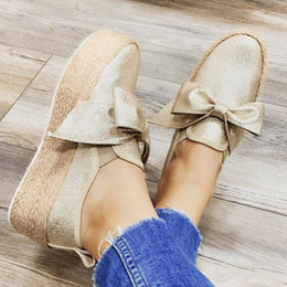 nice sneakers Australia - Oeak Nice Spring Women Slip On Bows Flats Shoes Platform Sneakers Leather Suede Ladies Loafers Moccasins Casual Shoes