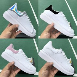 army green colour shoes 2019 - With Box 2019 New Colour Designer Sneakers For Men Women White Leather Ladies Platform Sneakers Fashion Luxury Casual Sh