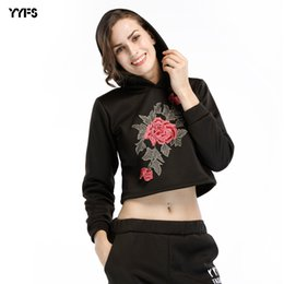 short paragraph flowers Australia - Cap Women's Even Wear Plus Velvet Thickening Flower Embroidery Sweater Fluffy Shirt Short Paragraph Long Sleeves Jacket Female T Shirts