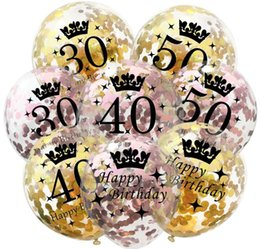 $enCountryForm.capitalKeyWord NZ - Confetti Birthday Balloons 12 Inch Inflatable Latex Clear Confetti Balloon 30 40 50 Anniversary Birthday Party Decoration