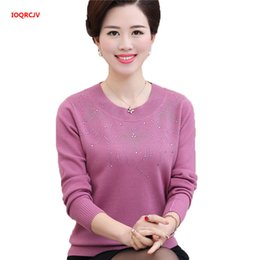 Middle age sweater online shopping - Middle aged Women s Sweaters Autumn And Winter Long Sleeve Plus Size Knitted Sweaters Mother Clothing Wool Pullover Tops W1172
