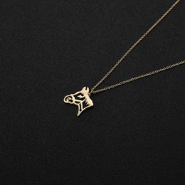 $enCountryForm.capitalKeyWord Australia - 30pcs Cut Out Origami Horse Head Pendant Charm Necklace Outline Animal Unicorn Face Chain Necklaces for Equestrian Women Cowgirl Gifts