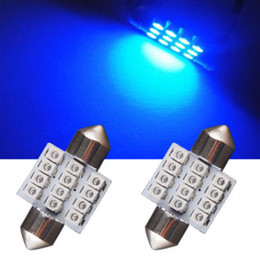 Discount blue festoon bulb - 13 Pcs Blue LED T10 31mm Festoon Bulbs Packge Kit for Interior Map Dome Lights TD326