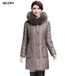 Womens Parkas Australia - Womens down coats Long down parkas winter jacket woman 2017 Raccoon fur Hooded Oversized 6XL Duck down coat manteau femme hiver