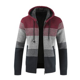$enCountryForm.capitalKeyWord Australia - Knitting Sweatshirt Winter Streetwear Hoody Striped Sweat Pullover Zipper Hoodie Sweatshirts For Men Hip Hop C19041701