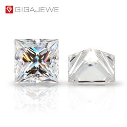 Wholesale Wholesale GIGAJEWE White D Color Princess Cut with certificate Moissanite Loose Stone For Jewelry Making Free Shipping